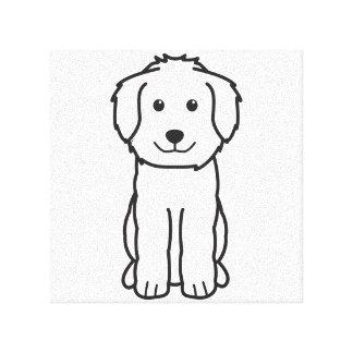 Goldendoodle Dog Cartoon Canvas Print