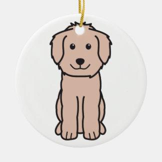 Goldendoodle Dog Cartoon Ceramic Ornament