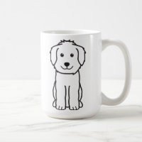 Goldendoodle Dog Cartoon Coffee Mug