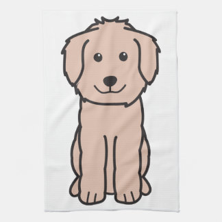 Goldendoodle Dog Cartoon Kitchen Towel