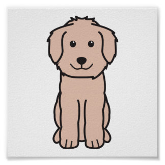 Goldendoodle Dog Cartoon Poster