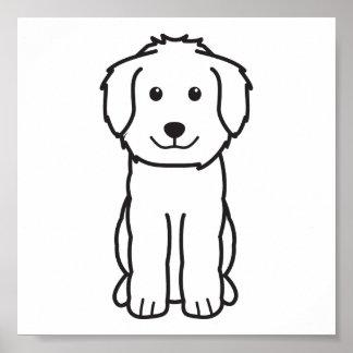 Goldendoodle Dog Cartoon Poster