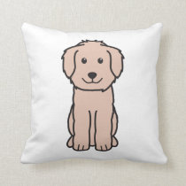 Goldendoodle Dog Cartoon Throw Pillow