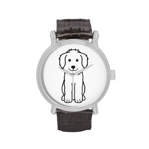 Goldendoodle Dog Cartoon Watch