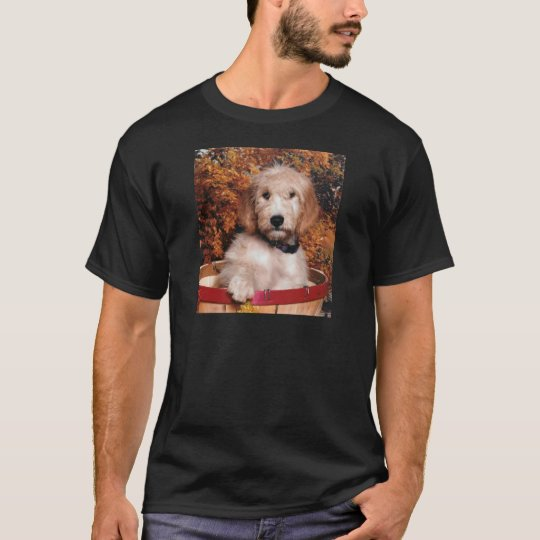 Goldendoodle in a basket T-Shirt