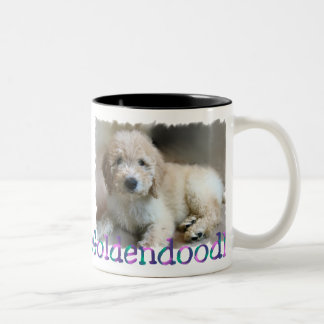 Goldendoodle Lovers Gifts Two-Tone Coffee Mug