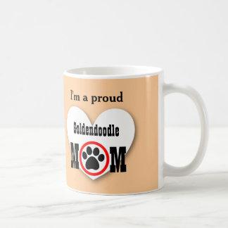 Goldendoodle Mom Dog Lover Paw Print Gift B07 Classic White Coffee Mug