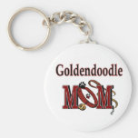 Goldendoodle Mom Gifts Basic Round Button Keychain