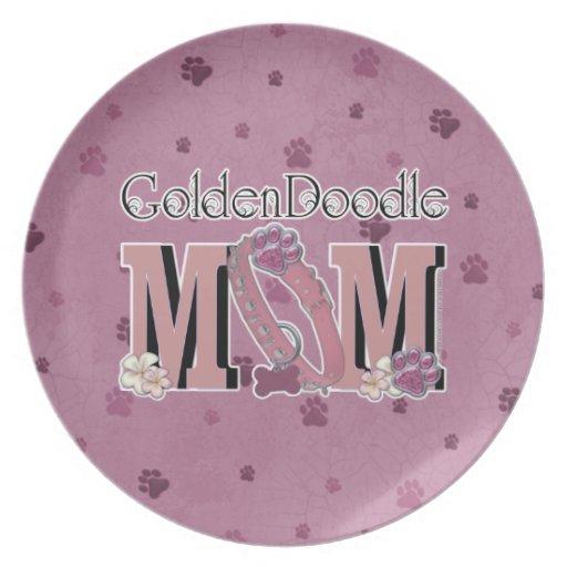 GoldenDoodle MOM Plates