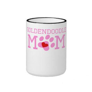 Goldendoodle Mom Ringer Coffee Mug