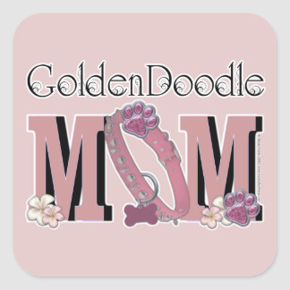 GoldenDoodle MOM Square Sticker