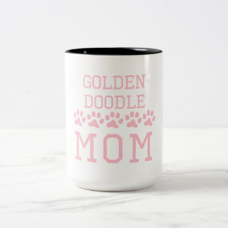 Goldendoodle Mom Two-Tone Coffee Mug