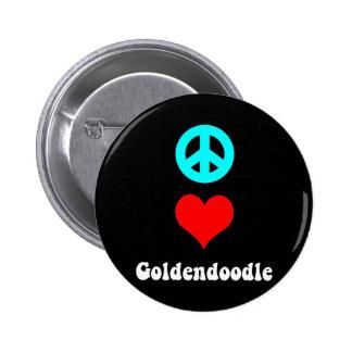 goldendoodle pinback button