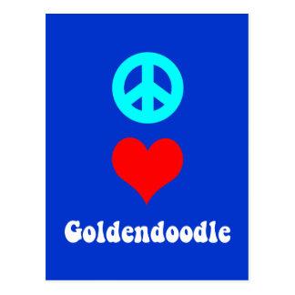goldendoodle postcard