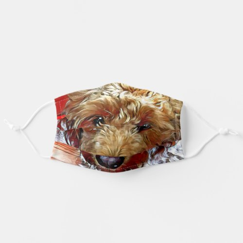 Goldendoodle Puppy Cloth Face Mask