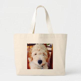 Goldendoodle Puppy Large Tote Bag