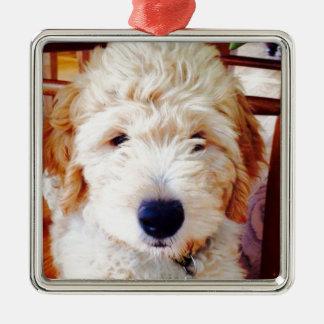 Goldendoodle Puppy Metal Ornament