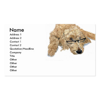 Goldendoodle Stella Business Cards