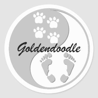 Goldendoodle Round Stickers