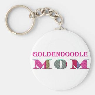 GoldendoodleMom Basic Round Button Keychain