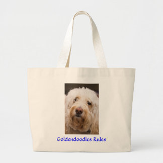 Goldendoodles Jumbo Canvas Tote Bag