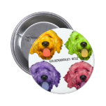 Goldendoodles Rule 4 color 2 Inch Round Button