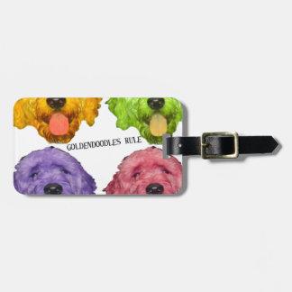 Goldendoodles Rule 4 color Bag Tag