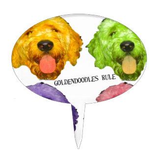 Goldendoodles Rule 4 color Cake Topper