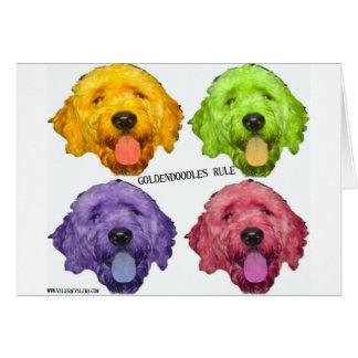 Goldendoodles Rule 4 color Card