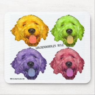 Goldendoodles Rule 4 color Mouse Pad