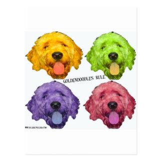 Goldendoodles Rule 4 color Postcard