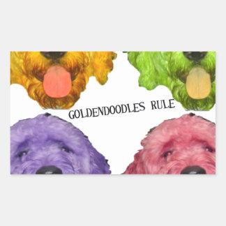 Goldendoodles Rule 4 color Rectangular Sticker