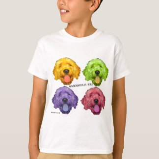 Goldendoodles Rule 4 color T-Shirt