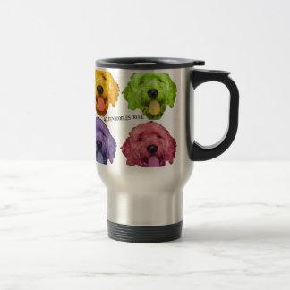 Goldendoodles Rule 4 color Travel Mug