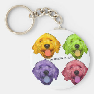 Goldendoodles Rule Key Chain