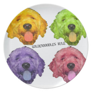 Goldendoodles Rule Plate