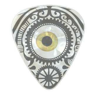 Goldeneye del caramelo del ojo púa de guitarra celuloide nacarado