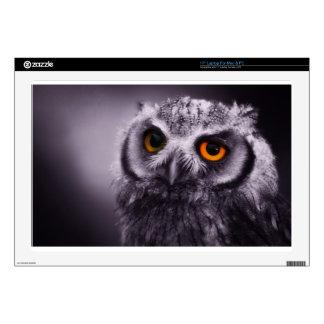 GoldenEyed Owl Laptop Skins