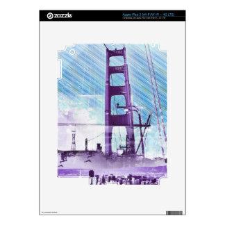 GoldengateBridge SanFrancisco Iconic Panel of Life Decal For iPad 3