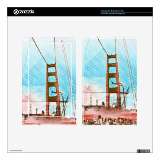 GoldengateBridge SanFrancisco Iconic Panel of Life Decals For Kindle Fire