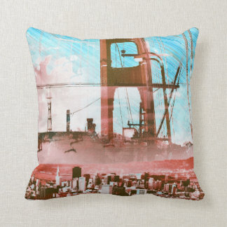 GoldengateBridge SanFrancisco Iconic Panel of Life Throw Pillow