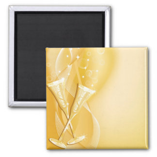 GoldenGlasses 2 Inch Square Magnet