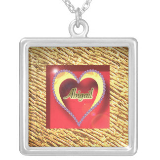 GoldenHeart-Diamond Abigail Silver Plated Necklace
