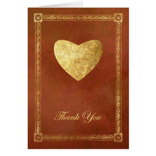 GoldenHeart Thank You Card