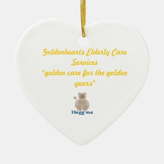 Goldenhearts Christmas ornament. Ceramic Ornament