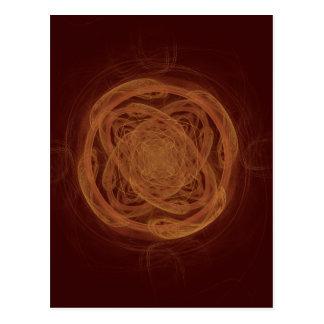 GoldenKnot Abstract Art Fractal Postcard