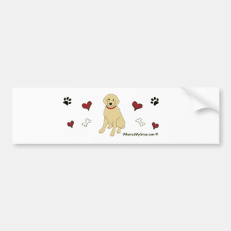 GoldenRetriever Bumper Sticker