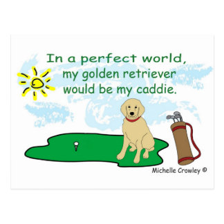 GoldenRetriever Postcard