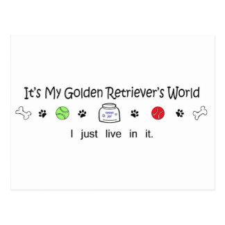 GoldenRetriever Postcard