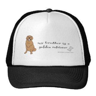 GoldenRetrieverFullBodyRedBrother Trucker Hat